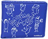 Toddland Men's Sausage Party Wallet, Royal Blue, One Size