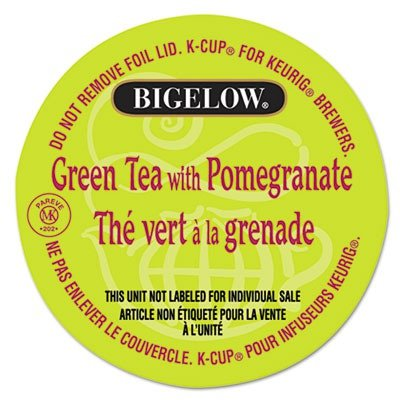 Bigelow Green Tea With Pomegranate, K-Cup Portion Pack For Keurig Brewers, 24-Count front-333986