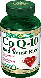 Nature's Bounty Coq10 Plus Red Yeast Rice Softgels, 60 Soft Gels