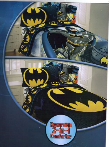 Buy Bargain Batman 4pc Twin Comforter and Sheet Set Bedding Collection
