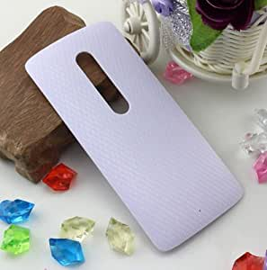 Plus Replacement Battery Door Panel Housing Back Cover Case Shell for Motorola Moto X Play - White