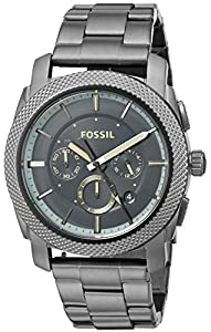 Fossil Men's FS5172 Machine Chronograph Gunmetal Stainless Steel Watch