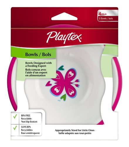 Playtex Mealtime Bowl - 3 pack (Colors may vary)