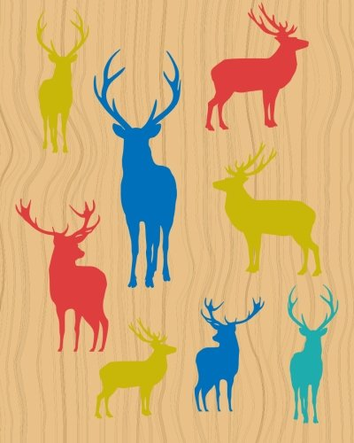 Deer Notebook: College Ruled Writer's Notebook for School, the Office, or Home! (8 x 10 inches, 120 pages)