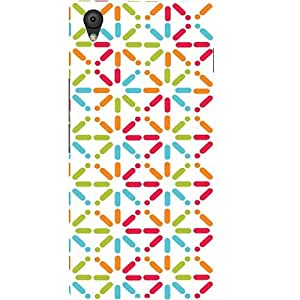 Casotec Trips Design Hard Back Case Cover for Oneplus X