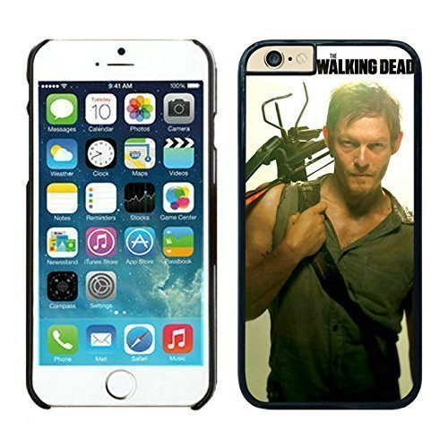 Easy Set Walking Dead Daryl Dixon Black cell phone Case for iPhone 6 Plus 5.5 inch 260
