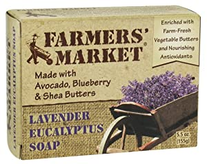 Essence Soaps By Baudelaire Lavender and Eucalyptus Bar Soap 5.5 Oz