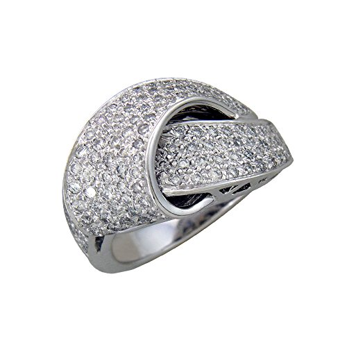 0.57 Cts FullcutDiamond Ring in Sterling Silver & Real Diamonds