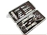 AABuild(TM) big discount! 12 Pcs Vogue Nail Care Personal Manicure & Pedicure Set, Travel & Grooming Kit, stainless steel,