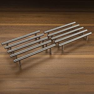 Micro trader maniglie per ante cucina e armadi acciaio inox satinato 10 x 128 mm viti - Maniglie per ante cucina ...