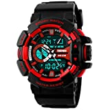 Panegy Outdoor Waterproof Mens Students Boys Cool Sport Digital Alarm Stopwatch Chronograph Wrist Watch Gift