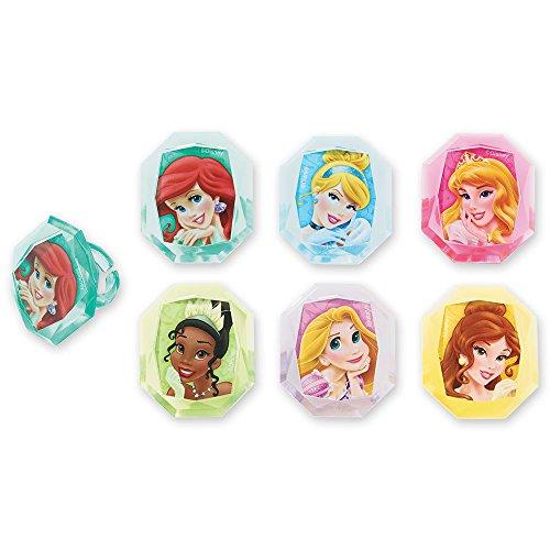 DecoPac Disney Princess Gemstone Princesses Cupcake Rings (24 Count) (Ariel Gem Ring compare prices)