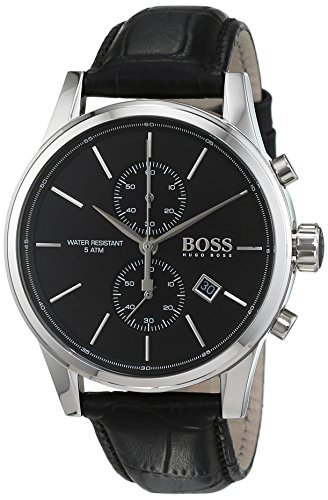 Hugo Boss Jet Chronograph Quarz Herren-Armbanduhr Leder 1513279