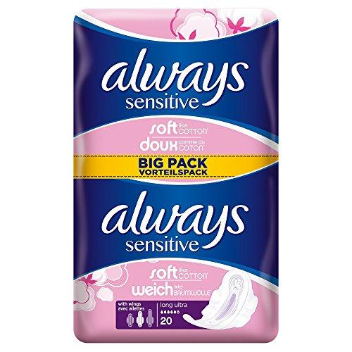 always-sensitive-long-always-ultra-serviettes-hygieniques-avec-ailettes-x20