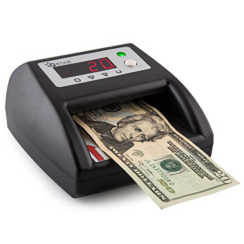 G-Star Technology Counterfeit Bill Money Detector Counter with UV/MG/IR/IM Detection