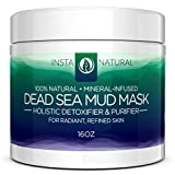 InstaNatural Dead Sea Mud Facial Mask, 16 Ounce
