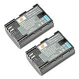 DSTE? 2pcs LP-E6 Wiederaufladbare Li-Ionen Batterie f¨¹r Canon EOS 5D Mark II, EOS 5D Mark III, EOS 6D, EOS 7D, EOS 60D, EOS 60Da, EOS 70D als LP-E6N