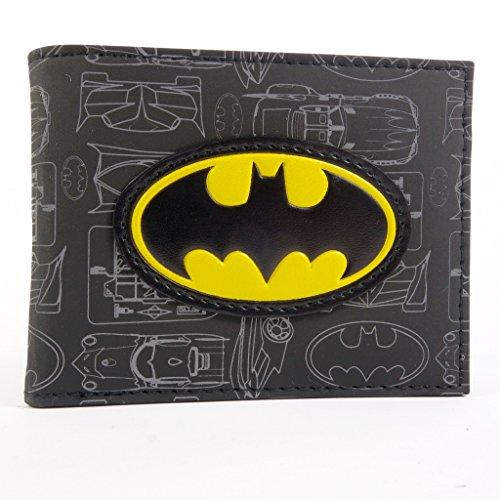 DC Comics Batman Simbolo e Batmobile Nero portafoglio