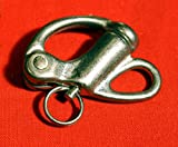 "2"" Fixed Bail Snap Shackle for Bracelet, Sailboat -Stainless Steel . Five Oceans"