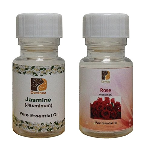 Devinez Aroma Jasmine And Rose Essential Oil For Diffusers, 15ml (Pack Of 2)