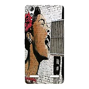 Premium Girl Singing Wall Back Case Cover for Lenovo A6000 Plus