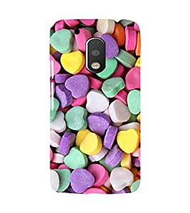 Printvisa Heart Shaped Candies Pattern Back Case Cover for Motorola Moto G4 PLUS