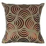 The Decor Mart - Single Cushion Cover - Cotton - Printed - Fog - 16 X 16 Inch