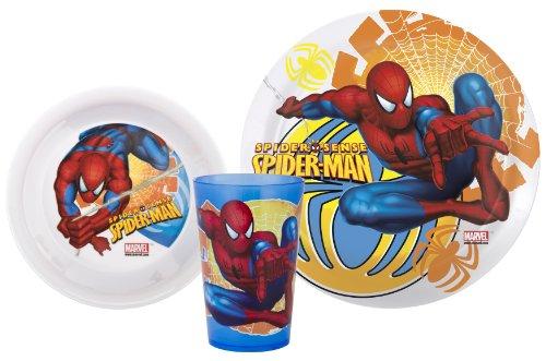Zak Designs Marvel Spiderman 3-Piece Mealtime Set front-907687