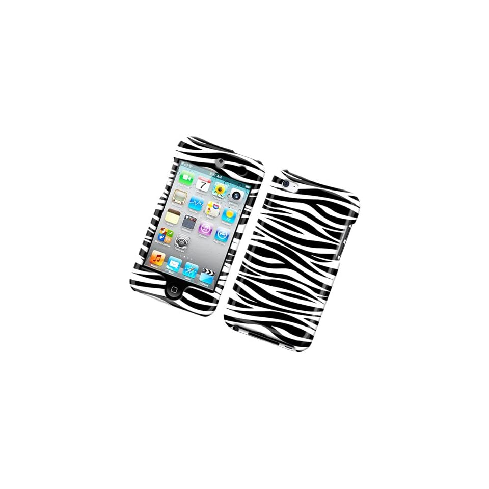 Cuffu iPod Touch 4 (4th Gen.) Black White Zebra designed case cover to protect your device.