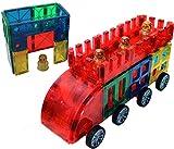 Award Winning Magnetic Stick N Stack 52 piece CAR SET Including 4 figures.