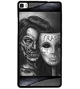 ColourCraft Mask Design Back Case Cover for HUAWEI P8