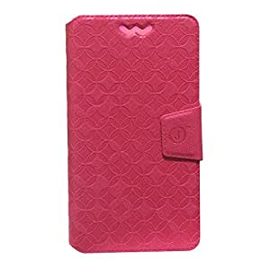 Jo Jo Cover Aarav Series Leather Pouch Flip Case With Silicon Holder For Videocon Infinium Z50Q Lite Red