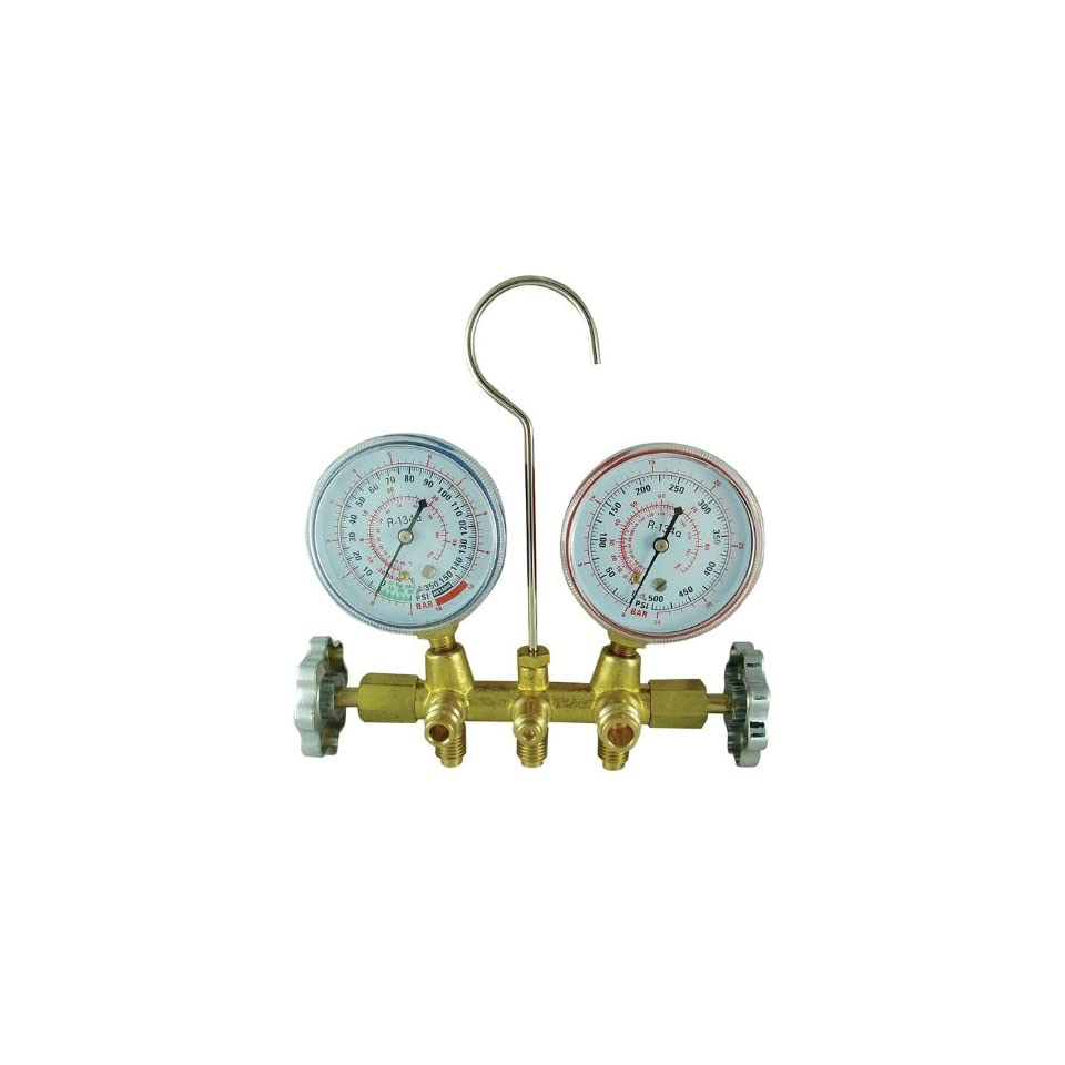 FJC 6715 R134a Brass Manifold Gauge Sets with 72 Hose