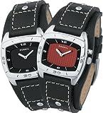 FOSSIL (フォッシル) 腕時計 KALEIDO ブラック/レッドパネル AM3779 メンズ