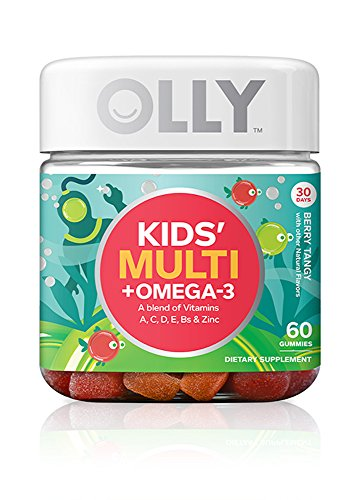 OLLY Kids Multi-Vitamin and Omega 3 Gummy Supplements, Berry Tangy, 60 Count (Omega 3 Vitamin For Kids compare prices)