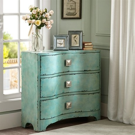 Madison Park Fulton Crackle Bombe Chest Blue See below 0