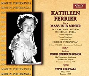 Mass in B Minor / Four Serious Songs / Fairy Queen