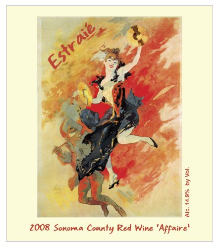 """2008 Chandelle Estraié Sonoma County Red """"The Affaire"""" 750 Ml"""