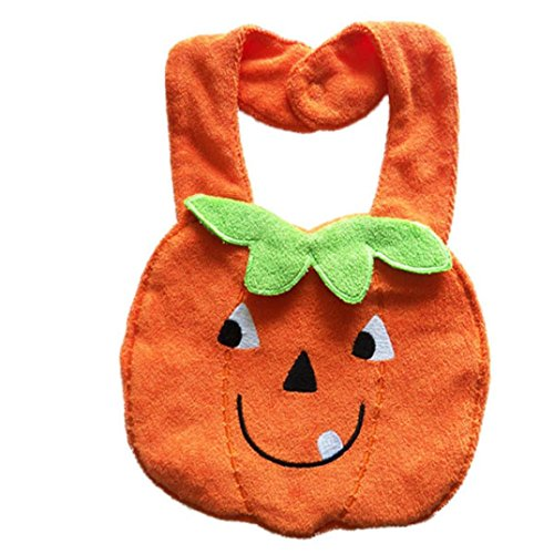 buy AMA(TM) Baby Kids Infant Cotton Animal Feeding Bibs Burp Cloths Saliva Towel (Orange) for sale
