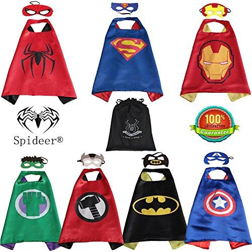 SpiderMarket Superhero 7 cape and masks coustumes