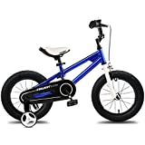 "Projekt - Kids Bikes 14"" BMX Freestyle Bicycle, Boys Bikes, Girls Bikes, Gifts for Kids, Blue"