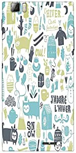 Snoogg lifestyle pattern 2562 Designer Protective Back Case Cover For Lenovo A6000