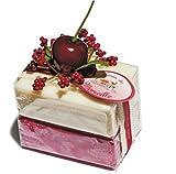 Savon De Marseille Bath Soap Bars Gift Set Cherry & Jasmine