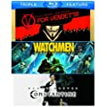 V for Vendetta & Watchmen & Constantine [Reino Unido] [Blu-ray]