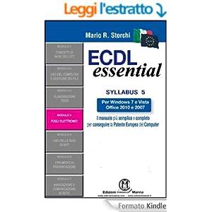 ECDL Essential - Modulo 4 - Foglio elettronico