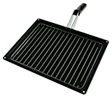 First4spares Complete Grill Pan & Handle for Beko Ovens / Cookers (280mm X 355mm)