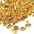BCP 100pcs Double Cap Rivets (Gold Color)