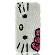 Slim 3D Bling Crystal Hello Kitty iPhone Case for iPhone 5