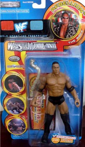 Buy Low Price Jakks Pacific the ROCK (DWAYNE JOHNSON) WWE WWF Wrestlemania XVII Rebellion Series 1 Figure (B004XIKVW2)