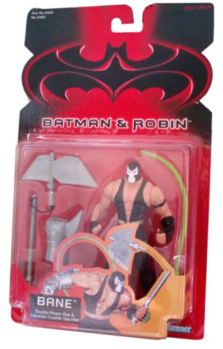 Batman and Robin 1997 Series 5-1/2 Inch Tall Action Figure - BANE with Double-Attack Axe and Colossal Crusher Gauntlet at Gotham City Store
